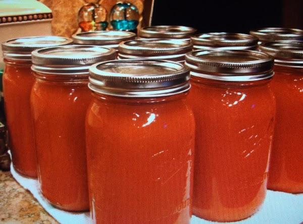 Eddie's Homemade Tomato Juice Recipe