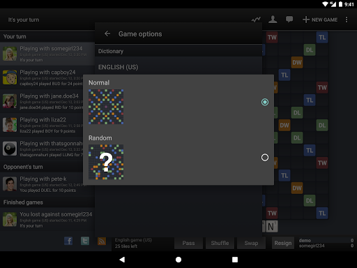Wordfeud FREE screenshot 13