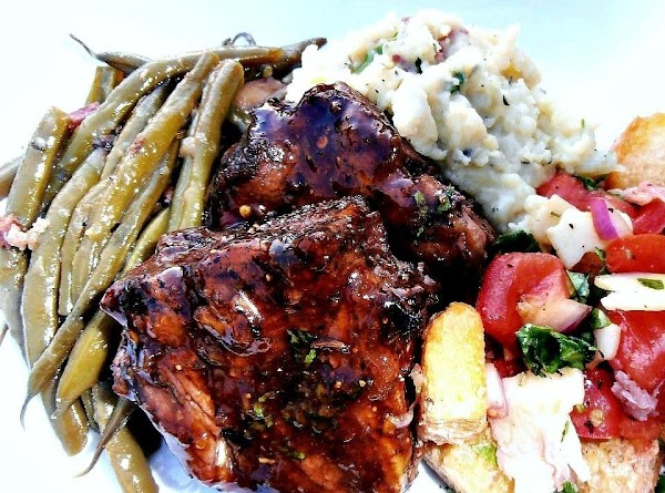 Grilled Mediterranean Lamb Chops W/ Fig Glaze Recipe