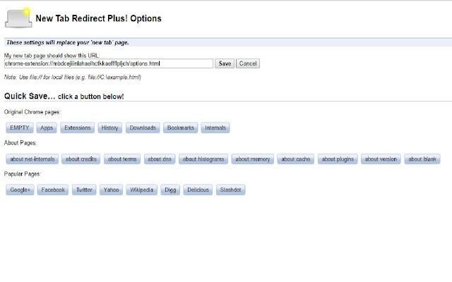New Tab Redirect Plus!