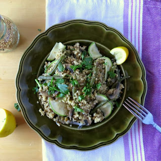 Millet and Lentils with Mushrooms and Seasonal Vegetables