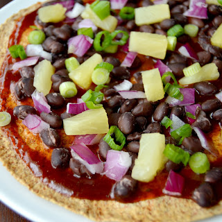 Barbecue Black Bean and Pineapple Pizza for One
