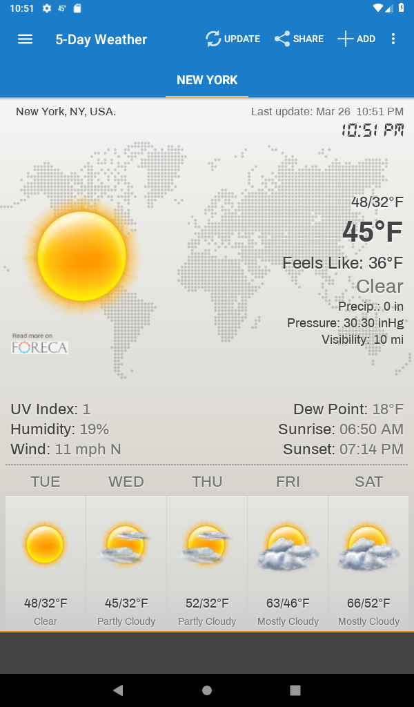 Weather & Clock Widget for Android Ad Free Screenshot 15