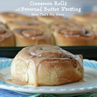 Cinnamon Rolls with Browned Butter Frosting.