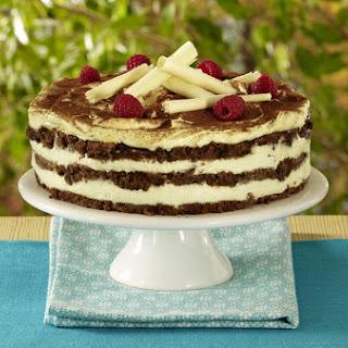 Raspberry Tiramisu Cake.