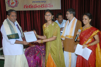 Photo: Meghana completed Certificate Course. Receiving the same from Sri Sethuram