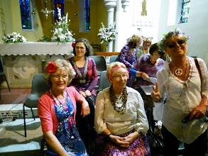 Photo: Jean Egan, Doris Lackey and Elizabeth Hayes with a pretty smiling Lisa O'Brien seated behind