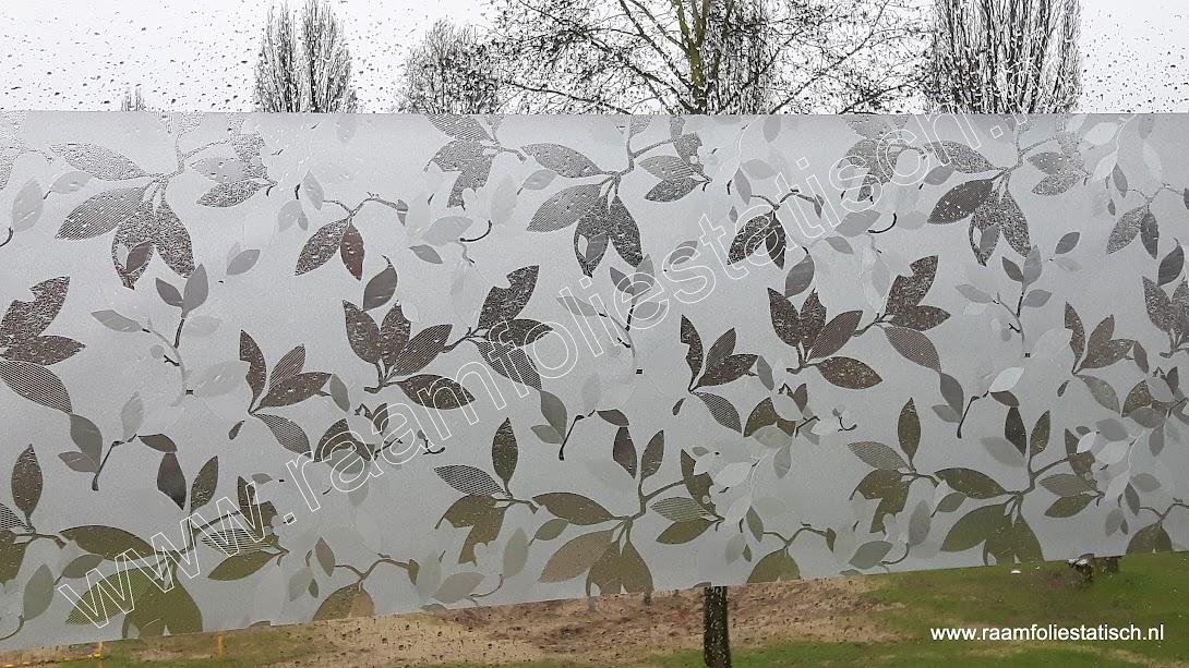 Statische raamfolie Jardin blommotief