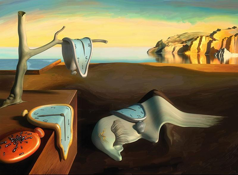 The Persistence of Memory Painting By Salvador Dali - Reproduction ...
