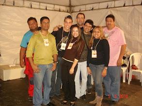 Photo: Banda Semear antes do show de 05/06/2010: Banana, Yuri, Guilherme, Valdemar, Júlio José, Erivan, Patrícia e Vanessa.