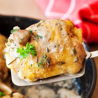 Three Herb Chicken with Mushroom Gravy.