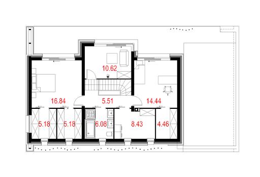 House 08 - Rzut piętra