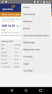 Glanbia Investor Relations- screenshot thumbnail