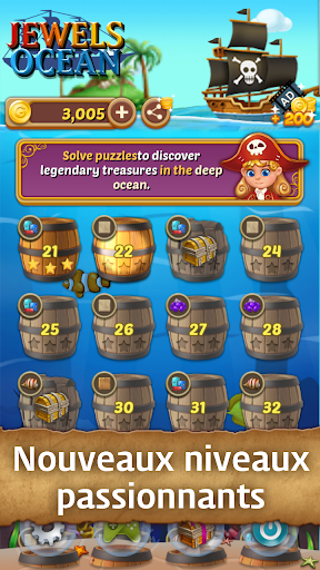 Télécharger Jewels Ocean : Une aventure de puzzle Match3 mod apk screenshots 2