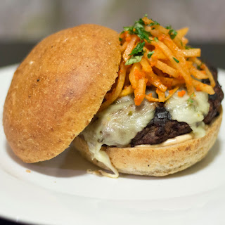 Chipotle Burger with Jicama Slaw