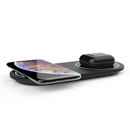 Incarcator dublu Wireless DualCharge, Fast Charge 15W, Halber