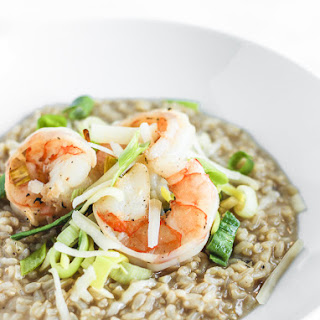Brown Rice Shrimp and Leek Risotto Recipe