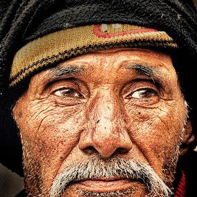 Thoughts by Arup Acharjee - People Portraits of Men ( color, indian, senior citizen, portrait, man, pwcfaces-dq )