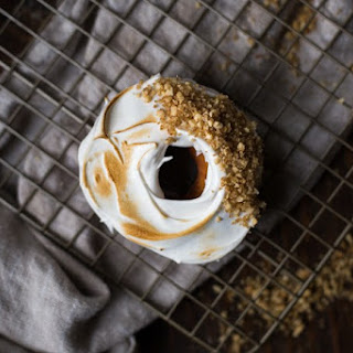 Sweet Potato Donuts with Toasted Marshmallow Fluff and Cashew Crumble // Farewell, Casserole