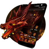3D Evil Fire Dragon Blood Theme
