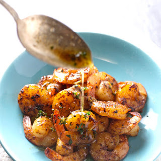 Orange Brown Butter Shrimp
