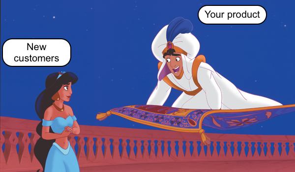 Aladdin and magic carpet