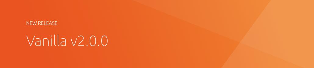 Vanilla framework v2.0.0 banner
