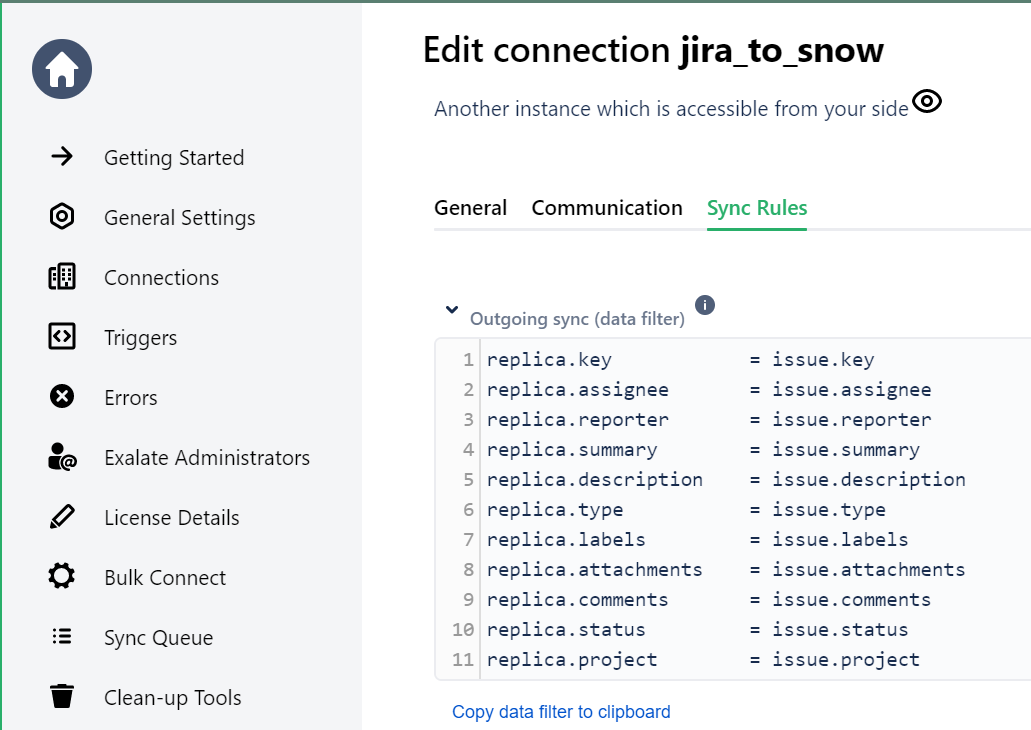jira servicenow sync rules