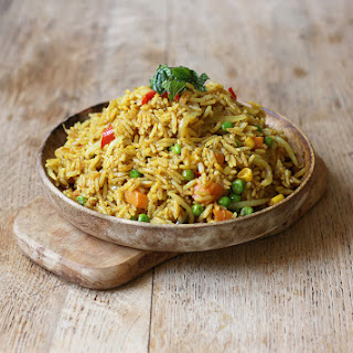 CURRIED COCONUT RICE.