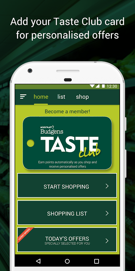 Taste Club - Warner's Budgens- screenshot
