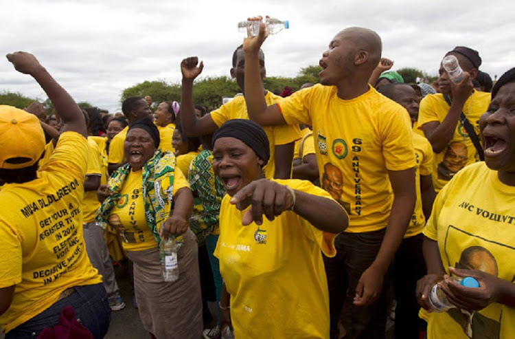 File photo of ANC members celebrating.