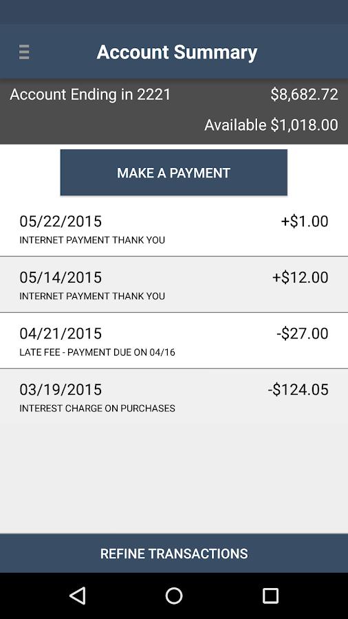 REI Credit Card- screenshot
