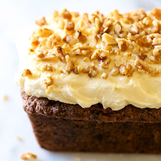 Carrot Walnut Loaf with Cream Cheese Frosting Recipe