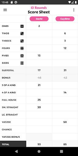 13 Rounds Score Sheet ss1