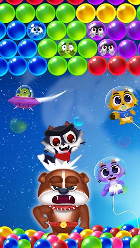 Space Cats Pop - Kitty Bubble Pop Games apktram screenshots 1