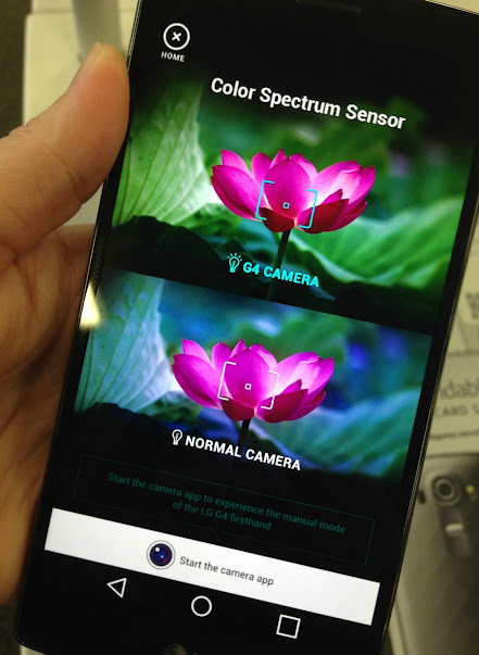 Color spectrum senor on the LG G4 lets you capture more accurate coloring in your photos