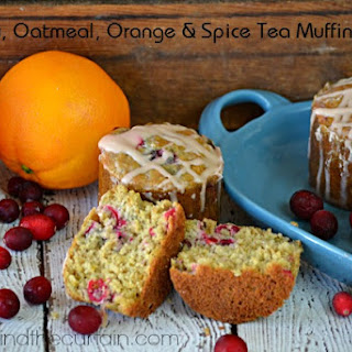 Cranberry Oatmeal Orange and Spice Tea Muffins