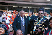 Bantu Holomisa   and Penny Penny at the inauguration ceremony  of President Cyril Ramaphosa on Saturday.