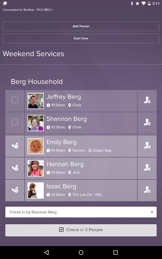 Planning Center Check-Ins- screenshot