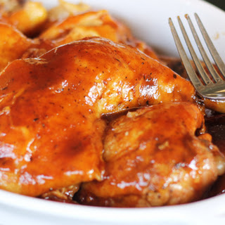 Bourbon BBQ Crock Pot Chicken.