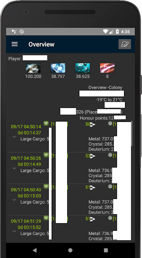 Ogame Client for android (UnOfficial)(developing) screenshots 2