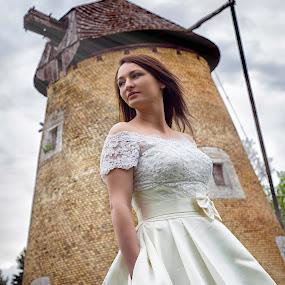 windmill by Jovan Barajevac - Wedding Bride ( love, look, dress, wedding, bride, windmill )