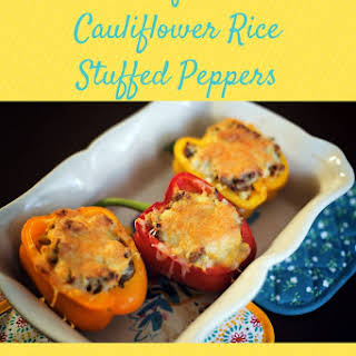 Sausage and Cauliflower Rice Stuffed Peppers.