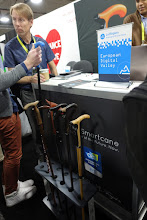"""Photo: The """"smart cane"""" (which got on many lists as one of the top gadgets of CES) is able to notice changes in gait, and thus detect new illness in seniors.   Nice, but this is the best we can do with all this tech?"""