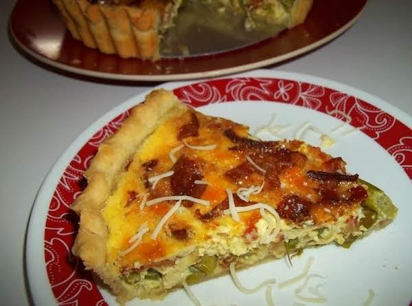 Superb Shallot, Bacon, Asparagus, Gruyère Quiche Recipe
