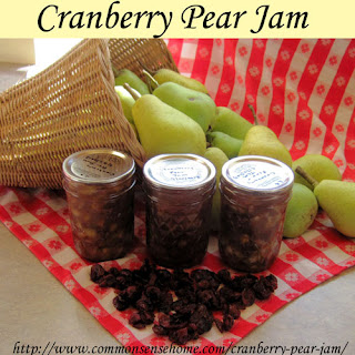 Cranberry Pear Jam - Traditional