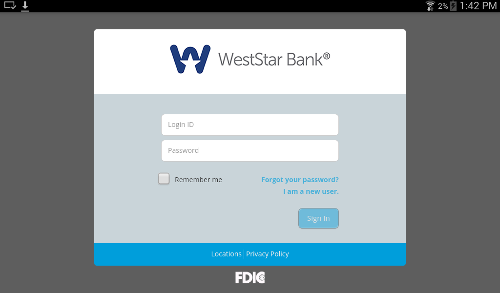 WestStar Bank Mobile Banking- screenshot