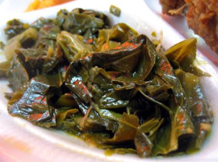 fried collard greens Recipe