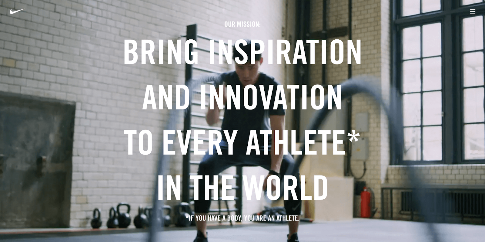 """""""Bring inspiration and innovation to every athlete* in the world. *If you have a body, you are an athlete."""""""