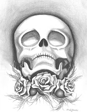 Photo: White Roses - 7x9 pencil Illustration on Bristol Board